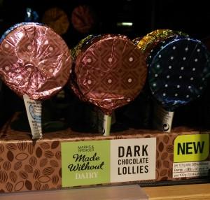 M&S Dark Chocolate Lollipops