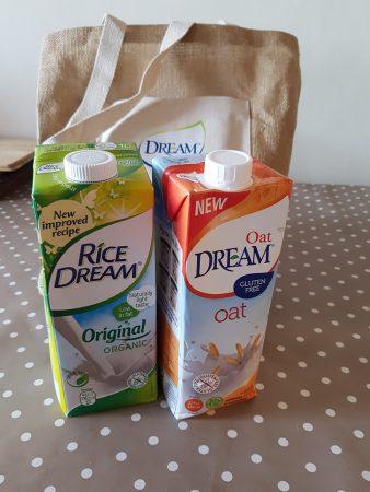dream rice and oat milk