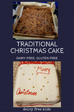 Traditional Christmas Cake Dairy Free Gluten Free
